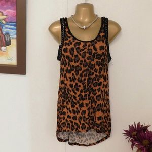Rue21 Leopard print thank top